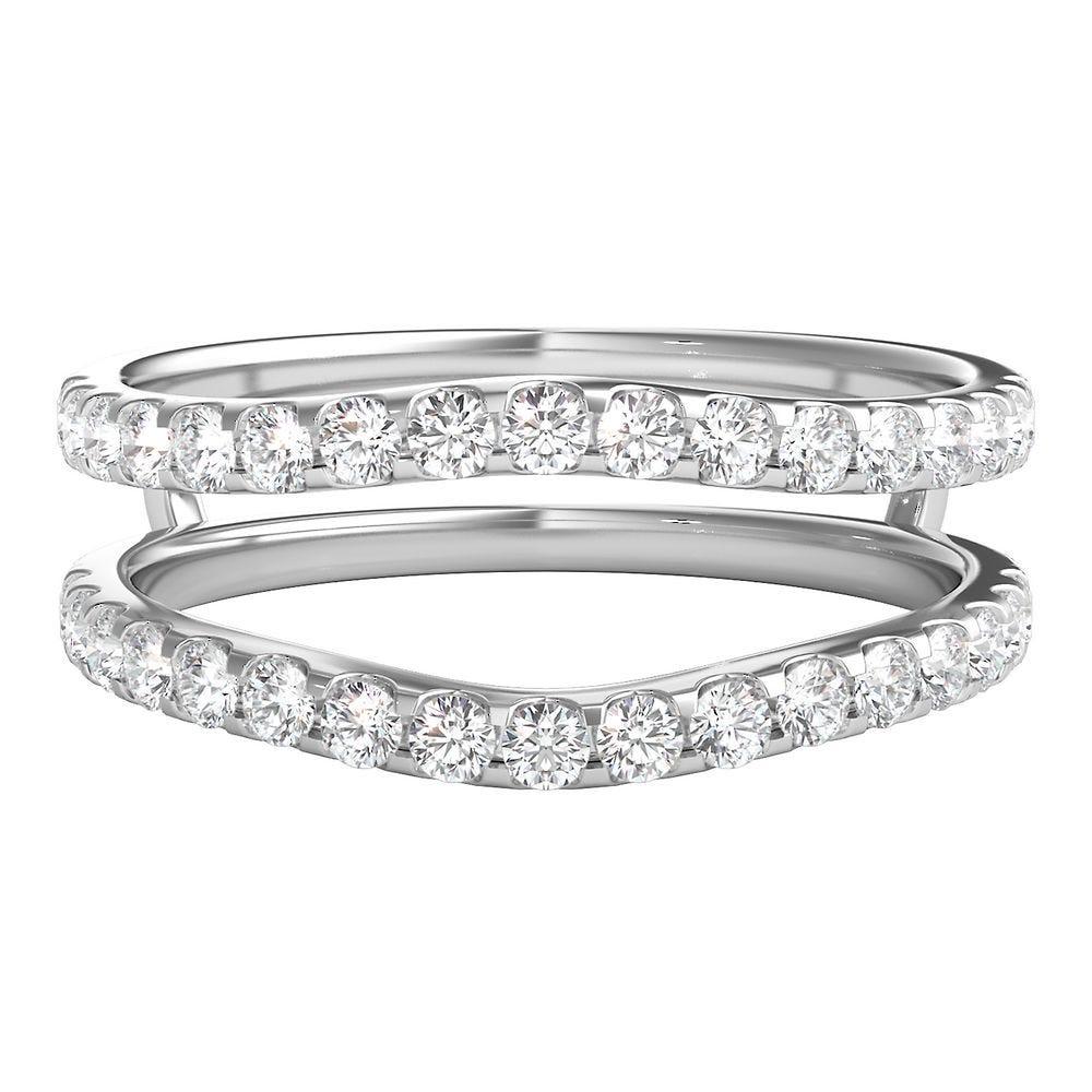 1 2 Ct Tw Diamond Ring Enhancer In 14k White Gold Helzberg